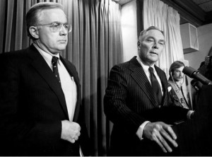 Former Reagan Administration National Security Advisor Richard V. Allen (left) with the late Sec. of State Alexander Haig, in 1981.
