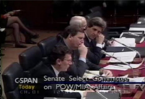 Select Committe on MIA/POW Affairs Chmn. Sen. John Kerry and Vice Chairman Sen. Robert Smith  - cspan via Beyond the Killing Fields