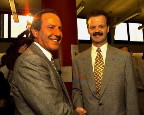 Daily News Publisher Mort Zuckerman and columnist Mike McAlary